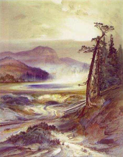 excelsior geyser yellowstone park 1873 XX national museum of american art washington